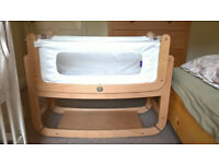 SnuzPod2 3in1 Bedside Crib in Natural