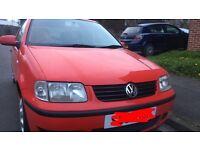 Volkswagen Polo 2001 Red Petrol Manual 3 door NEW MOT