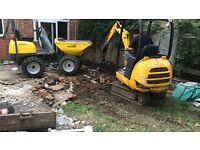 Mini Diggers / Dumper hire SURREY