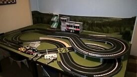 Huge scalextric digital wall mounted board fold down full layout