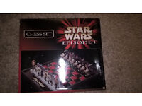 Star Wars Episode 1 Chess Set- Never used
