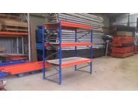 SHOP WORKSHOP WAREHOUSE GARAGE SHED CONTAINER SHELVING RACKING UNIT BAY