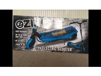 Brand new zinc 12v electric scooter cost £150