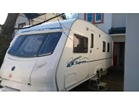 2007 Ace Globestar Supreme 4 Berth Fixed Island Bed Caravan with full size all weather awning