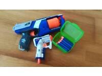 NERF guns x2 and bullets