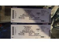 The Killers tickets x 2