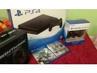Ps4 Slim 500GB with 2 Games,Extra Controller and Gaming Headset