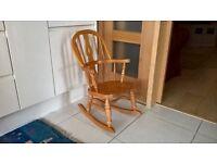 Pine childs rocking chair