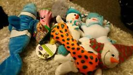 Dog toys some got tags on