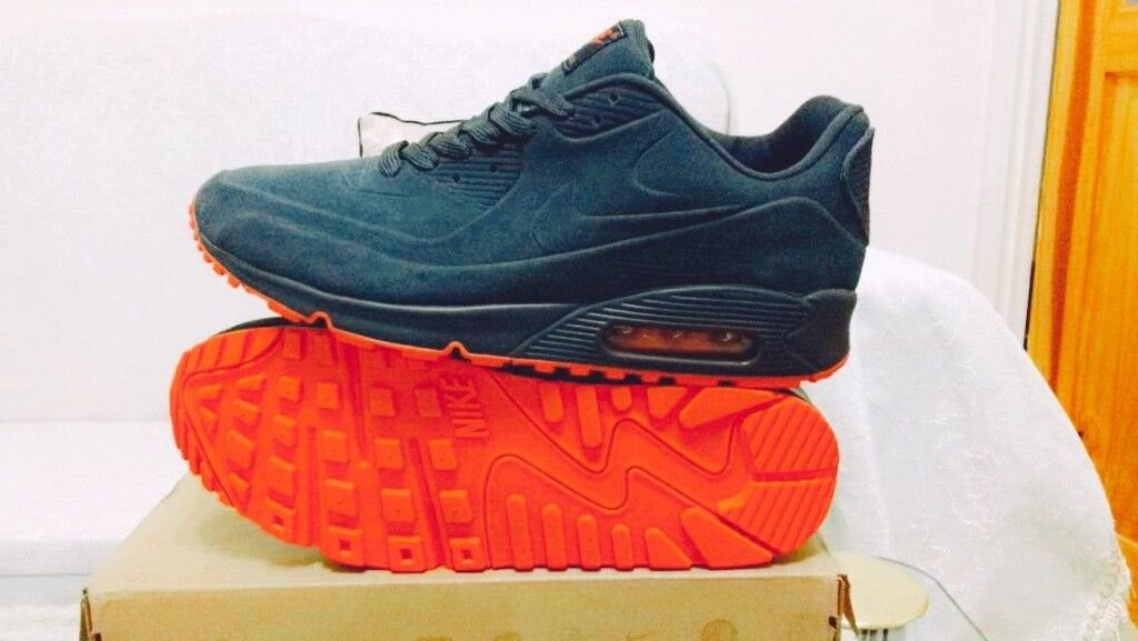 d1ad954406d ... discount code for nike air max 90 hyperfuse suede grey red vt all sizes  inc delivery ...