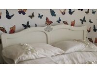 Next Home double vintage headboard in ivory