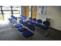 Selection of Airport style waiting room chairs