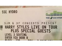 2 x Harry Styles tickets for Glasgow SSE Hydro Sataurday 14th April BARGAIN PRICE