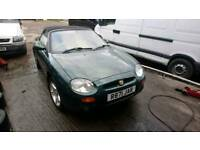 Mgf for sale in racing green, 1.8 vvc spares or repairs