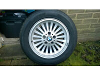 16 inch wheels and tyres BMW E39 Alloys Full Set - excellent condition