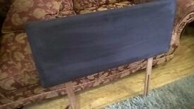 Single headboard - charcoal grey