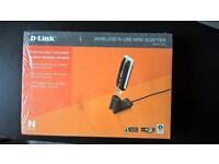 D-Link DWA-140 Wireless N USB Mini Adapter New In Sealed Box