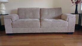 Beige/Neutral 3 & 2 seater sofa