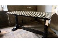 Professionally painted vintage dining table desk counter display