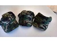 Kaki/Army Print Baseball Hats