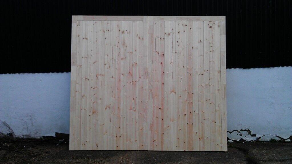 1 Pair Wooden Side Hung Garage Doors 2134mm High X 2286mm