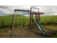 Meadow Vale Cedar Wood Climbing Frame Swings Slide