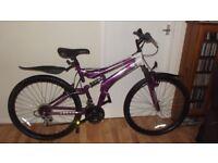 Gents Purple Mountain Bike