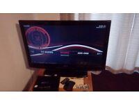 Large flat screen tv