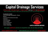 Capital Drainage Services, 24/7-365 days a year. Registered with N.A.D.C. Trusted skilled engineers