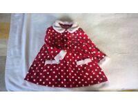 Baby girl's Little miss santa dress 9-12 months