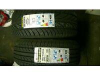 2 x brand new tyres