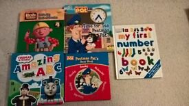 Children's Books: Postman Pat, Bob the Builder, Thomas the Tank Engine, First Numbers