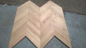 Classic Chevron Parquet Flooring - Solid Oak Hardwood Flooring not reclaimed