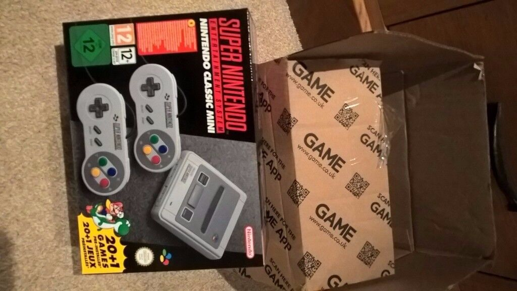MAKE AN OFFER - NINTENDO SNES MINI CLASSIC - BRAND NEW UN OPENED - AVAILABLE NOW - HARD TO GET