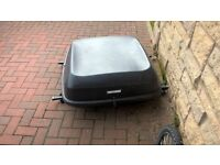 halfords roof box with roof bars