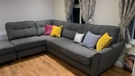 Corner sofa (grey) only 1 month old same as new