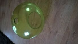 green glass light shade