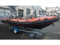 Rib Boat Valiant 520 Rib Mariner 75hp and Trailer