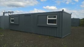 PORTABLE CABIN - 30FT X 10FT - OPEN PLAN OFFICE - DOUBLE GLAZED - SHIPPING CONTAINER