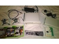 XBOX 360 + games, controllers, HDMI lead - Hard drive