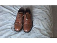 Men's Tan Leather Brogues - size 8