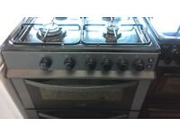 black silver Gas cooker Mint..ex display..free delivery