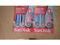 6 X 16GB USB DRIVES BRAND NEW