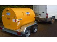 Fuel bowser ADR fully bunded tank trailer farm tractor digger dale kane