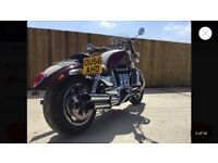 Triumph rocket 3 red and white custom seat and original seat fantastic condition