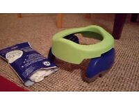 Potette plus (green and blue). Includes 9 disposable inserts. Comes in original packaging.