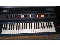 Retro Farfisa Bravo Organ Keyboard with Stand and Manual