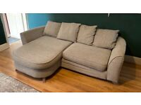 4 seater sofa, cuddle chair and foot stool