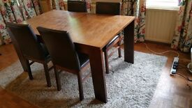 Quick sale for Dinning Table and 4 Leather Chairs