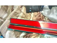 3 piece snooker cue and case